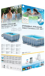 Stevige Intex metal frame pool wanden