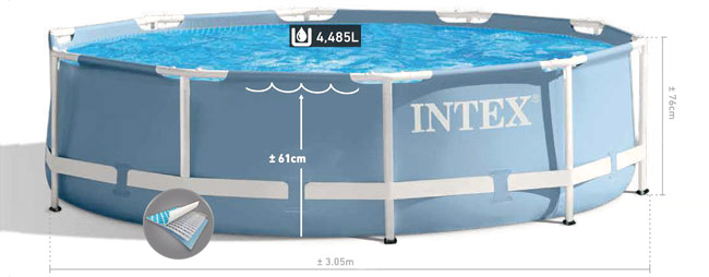 intex prism frame pool 305 cm. Black Bedroom Furniture Sets. Home Design Ideas