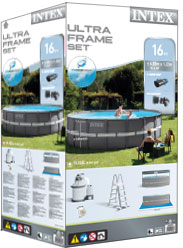 Intex metal frame pool verpakking