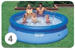 Intex Easy Set Pool opzetten stap 4