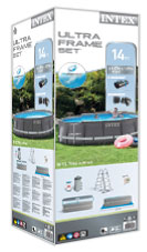 Intex metal frame pool verpakking