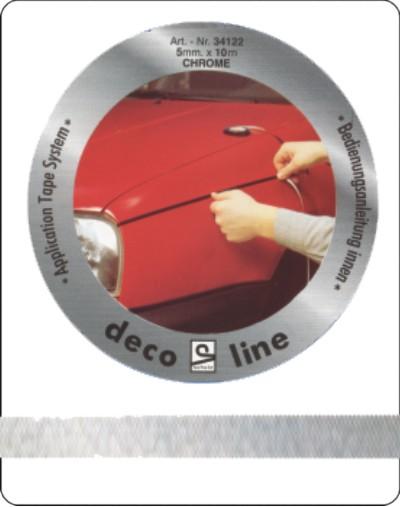 Striping chroom 7mm sticker