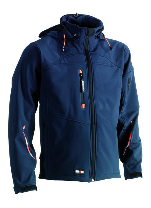 Herock Poseidon softshell jas navy, donkerblauw XXL