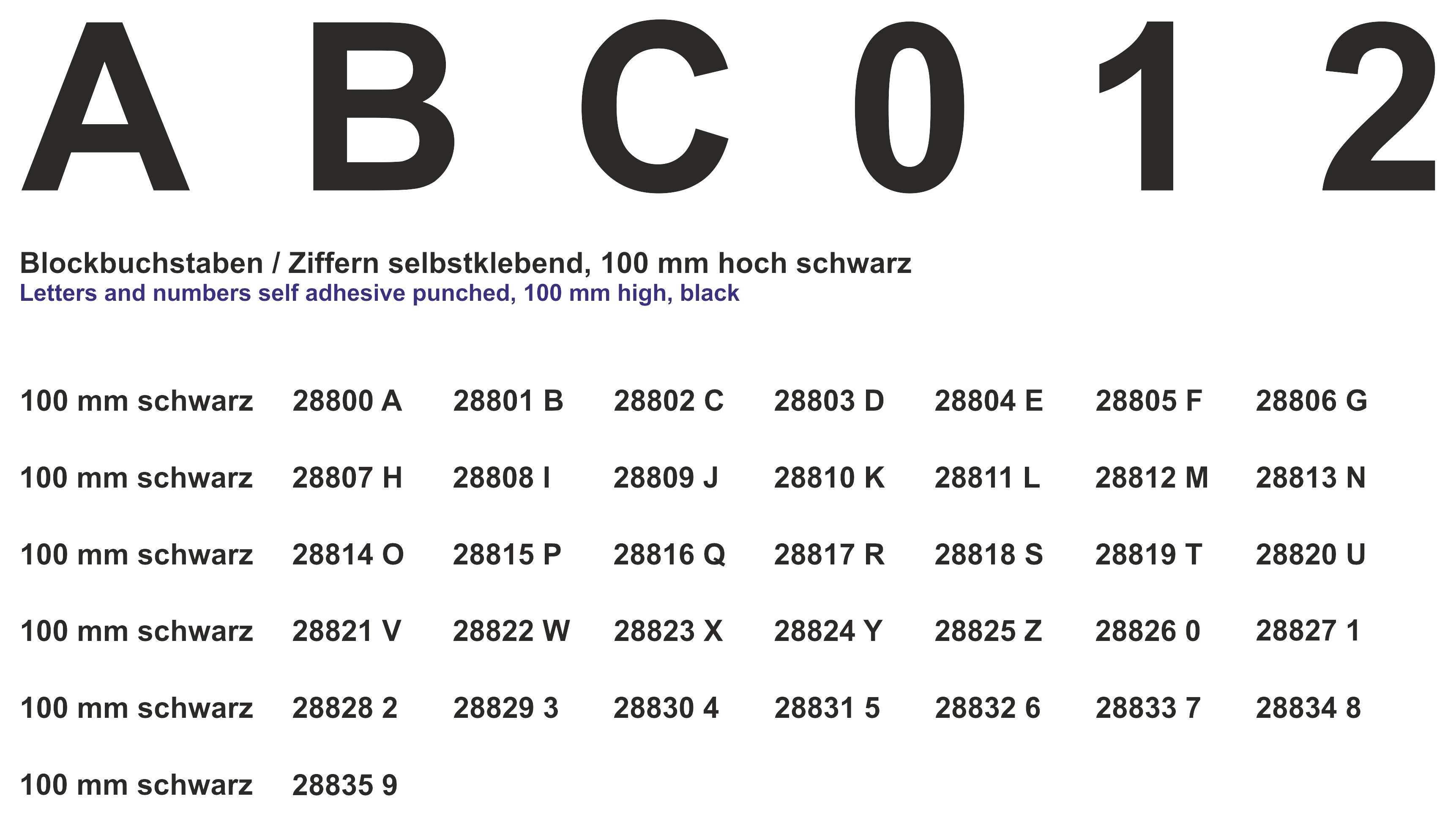 Cijfer 9 zwart 100mm sticker
