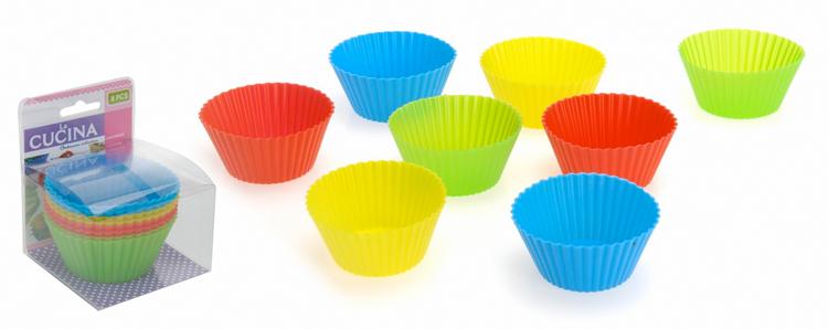 Siliconen Cupecakevormen 8 stuks