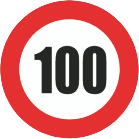 Afbeelding van 100km snelheid sticker