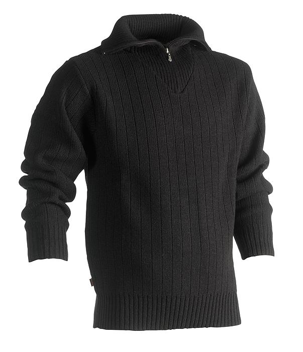 Herock Njord warme wolle schipperstrui zwart XXL