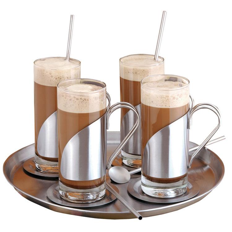 Koffieglazenset RVS 13 delig