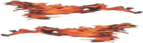 Vlammotief sticker 45x15