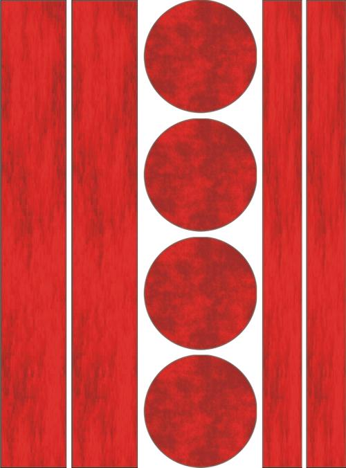 Reflecterend strepen cirkels sticker