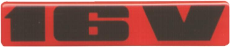 Afbeelding van 16v sticker