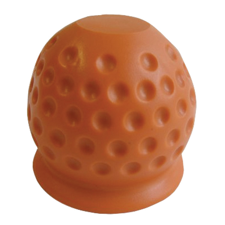 Trekhaakdop Golfbal rood-oranje