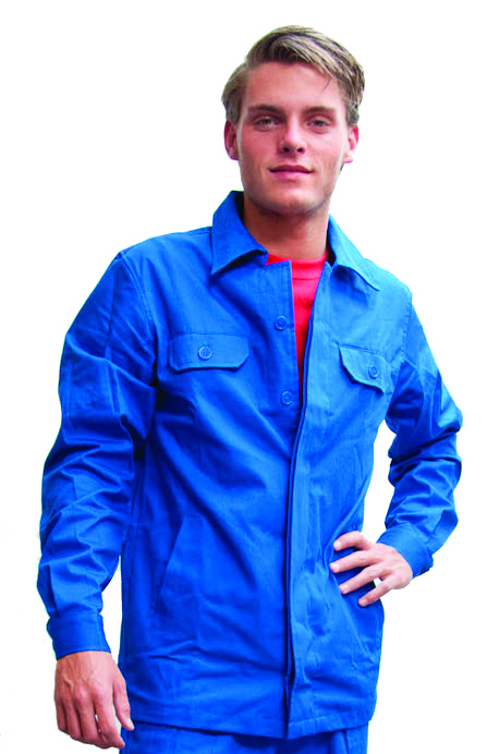 Korte jas korenblauw M