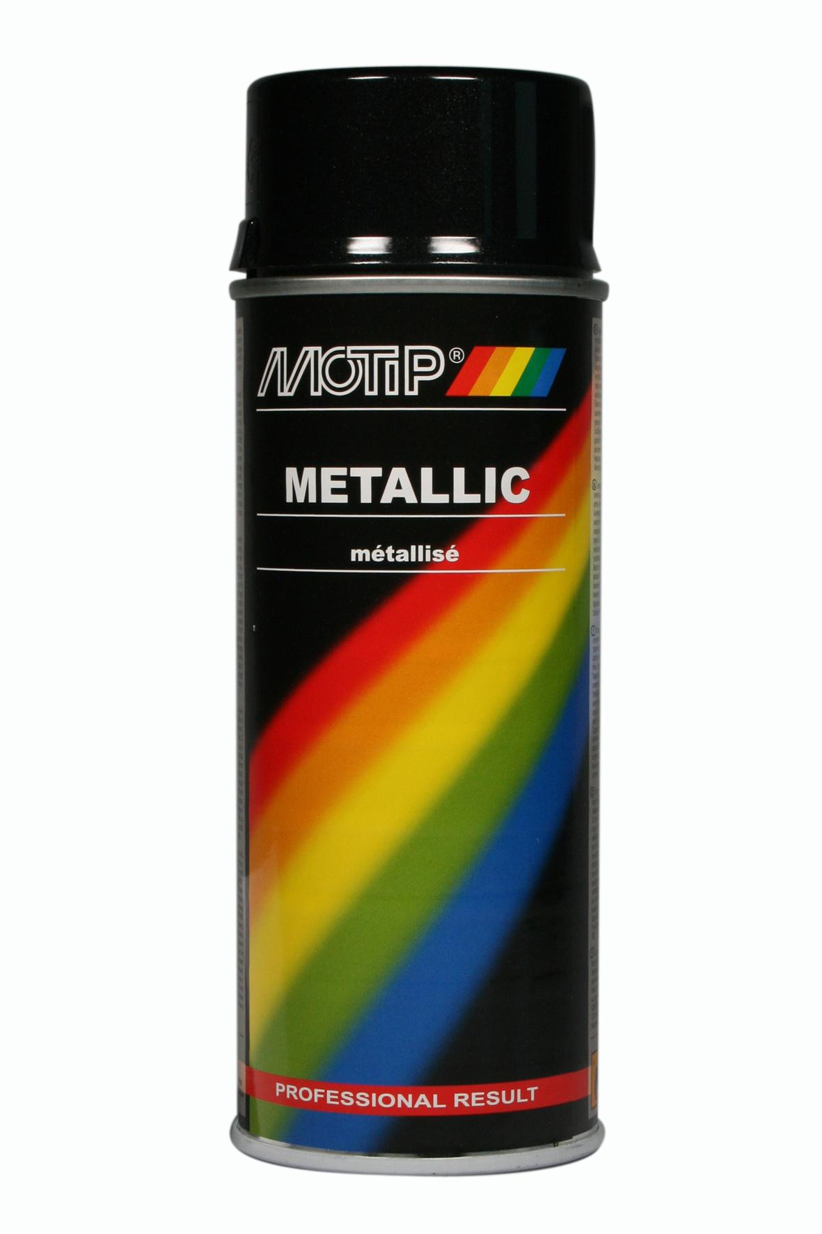 Motip ralley metalic zwart 400ml