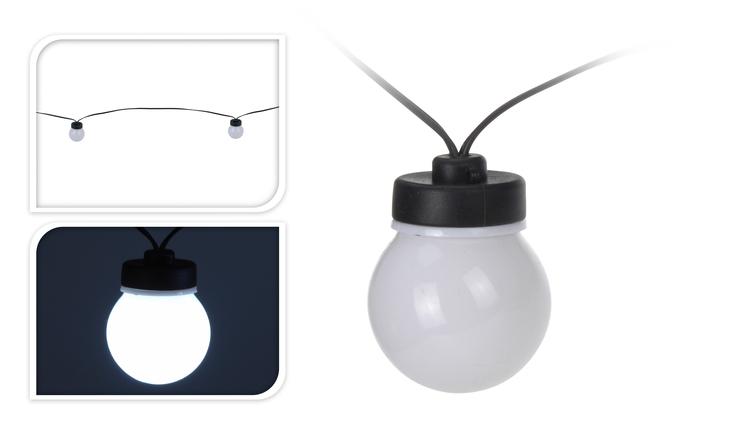 Feestverlichting 20 lampen wit