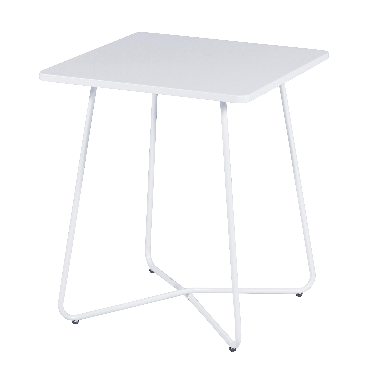 Tafel metaal mat wit