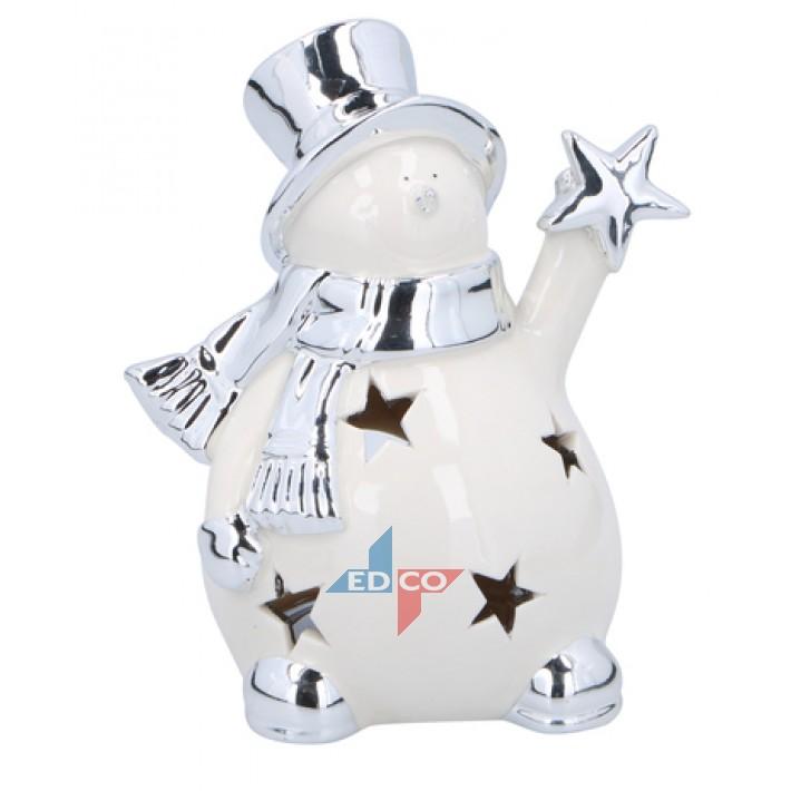 Theelichthouder sneeuwman