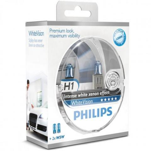 Philips Whitevision H1 W5W set