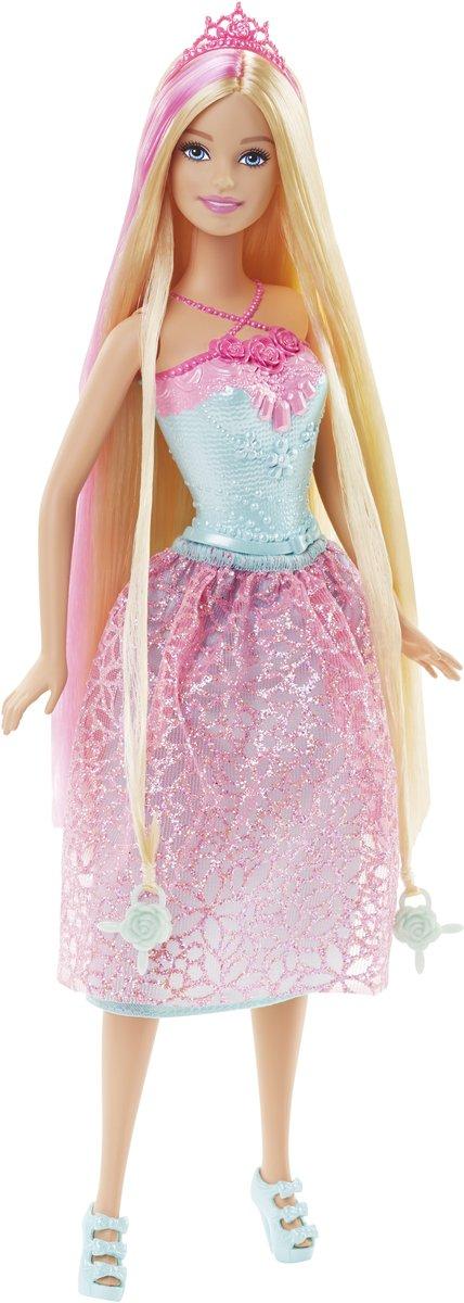 Afbeelding van Barbie Bijzonder Lang Haar - Prinses Roze
