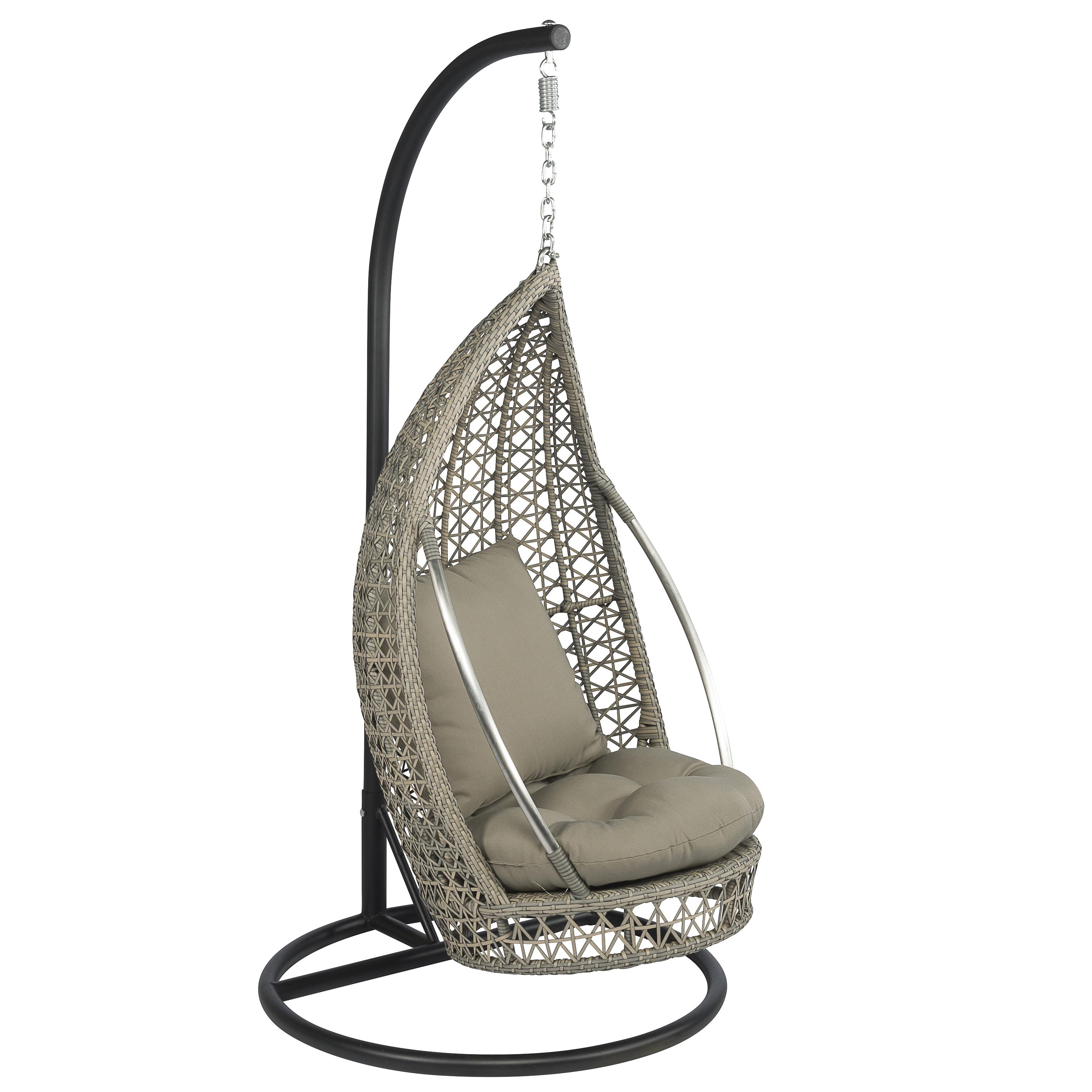 Hangstoel Druppel wicker naturel