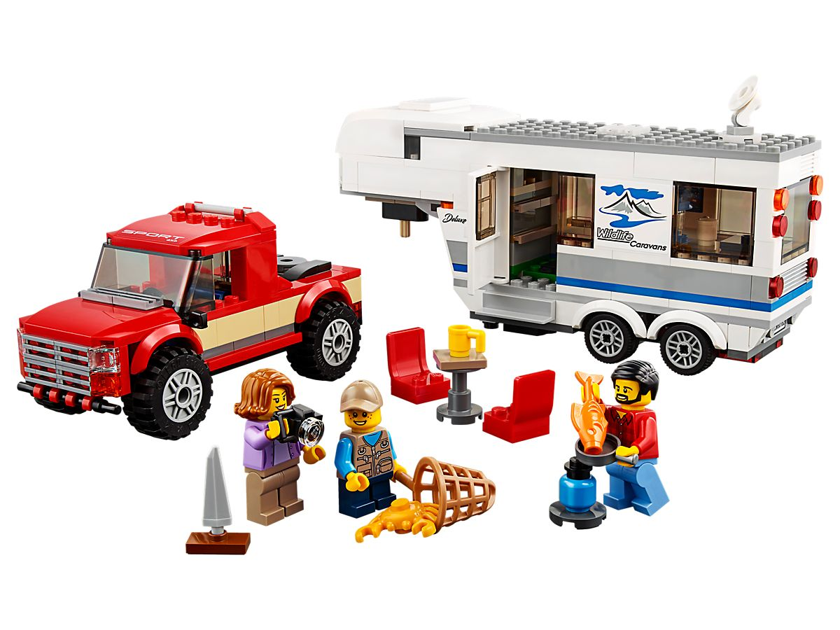 LEGO City Pick uptruck en caravan 60182