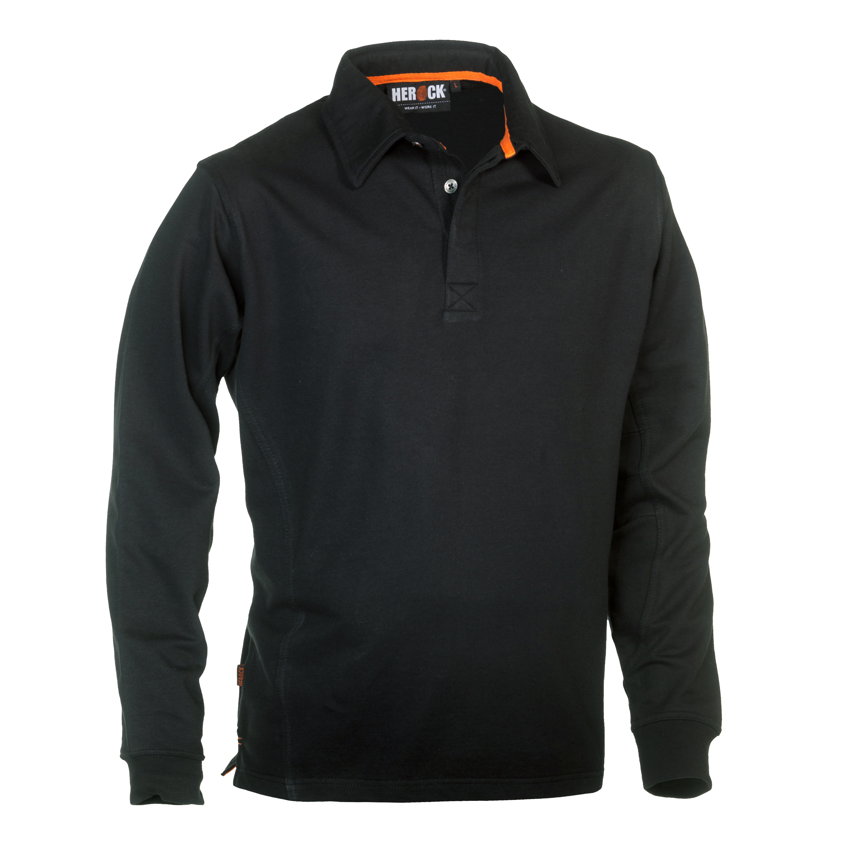 Herock Troja Polo Long Sleeves Zwart L