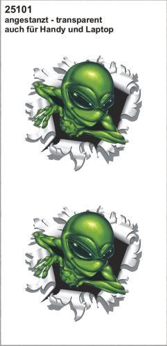 Alien-uit-kogelgat-sticker-60x60
