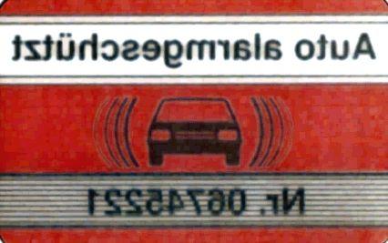 Alarm-rood/wit-sticker