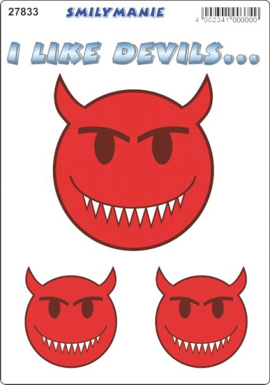 Smiley-i-like-devils..-sticker