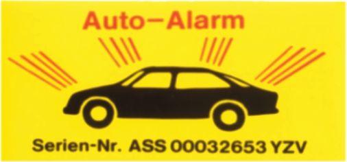 Autoalarm-sticker