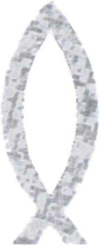 Vis-zilver-sticker
