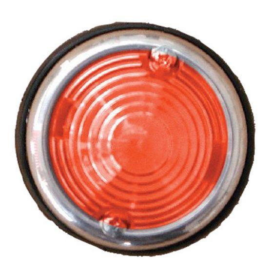 Breedtelicht-rood-70mm-chroom-rond