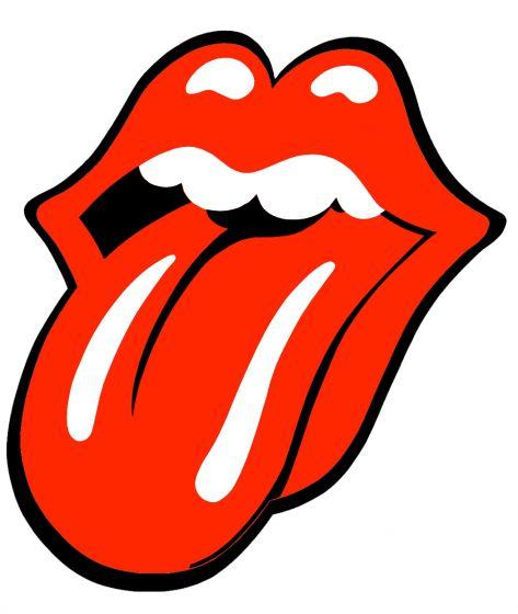 Rolling-Stones-sticker-rood/wit-10cm