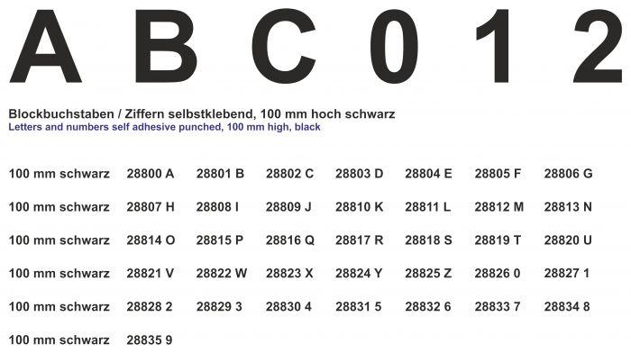 Cijfer-4-zwart-100mm-sticker