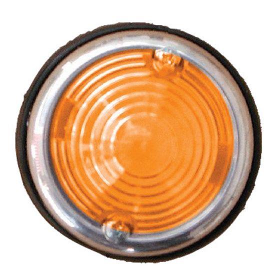 Breedtelicht-oranje-70mm-chroom-rond