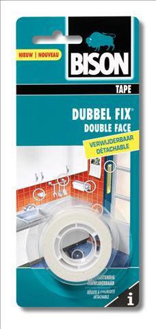 Bison-Dubbel-Fix-wit-1.5mx19mm