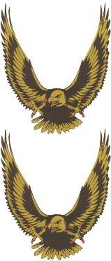 Adelaar-set-goud-(2x)-sticker