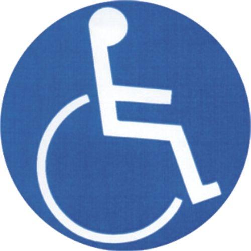 Invalide-reflecterend-sticker