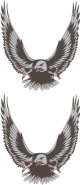 Adelaar-set-zilver-(2x)-sticker
