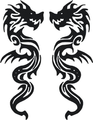 Draak-zwart-sticker