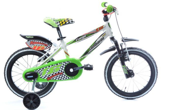 Lombardo---Fuego-|-Kinderfiets-16-inch-jongens-groen