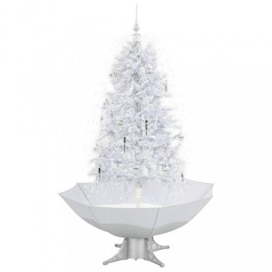 Sneeuwende-Kerstboom-Wit/Zilver-170cm