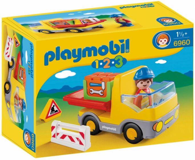 Playmobil-123-Vrachtwagen-met-laadklep---6960