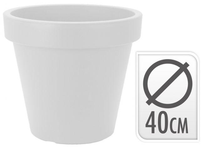 Bloempot-Wit-40cm