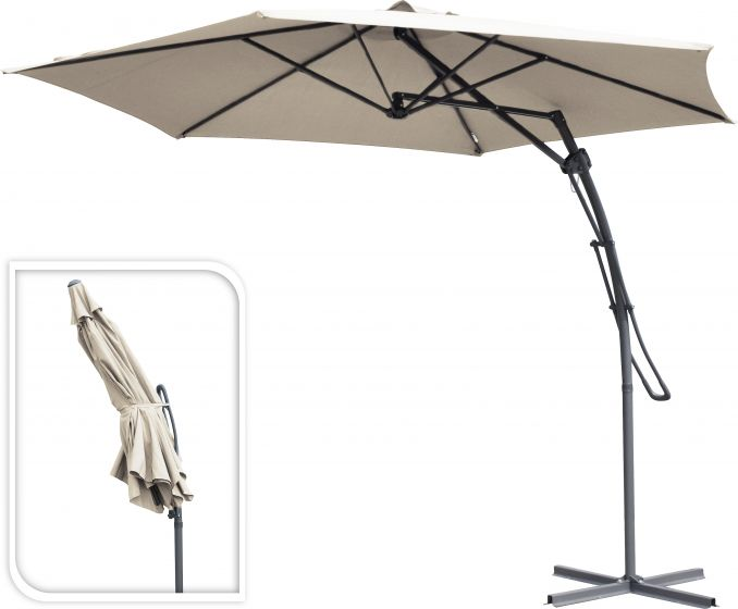 Hangparasol-push-up-Ø300cm-taupe