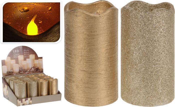 Kaars-led-timer-7x13-cm-goud