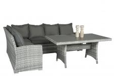 """Sahara""-Dining-Loungeset-Wicker---Grijs---Pure-Garden-&-Living"