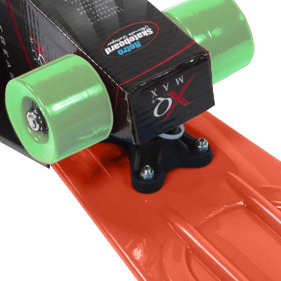 Skateboard-XQ-Max-Retro-Rood/Oranje