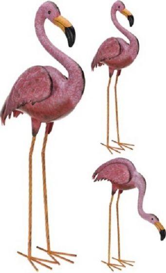 Metalen-Flamingo---tuindecoratie