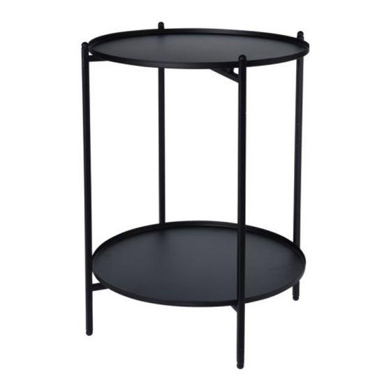 Bijzettafel-50cm-zwart